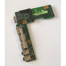 USB + VGA + HDMI + Audio board 60-NZIIO1000-B02 z Asus K52J