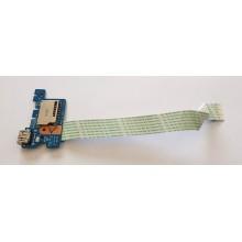 USB board + Čtečka karet LS-D702P / NBX0001ZP00 z HP 15-ba069nc