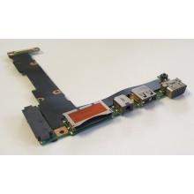 USB + Audio + VGA board + Čtečka karet 60NB00L0-IO1 z Asus X201E