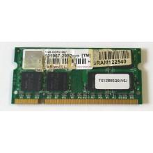 Paměť RAM do NB Transcend TS128MSQ64V6J 1GB 667MHz DDR2