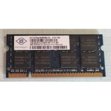 Paměť RAM do NB Nanya NT1GT64U8HB0BN-3C 1GB 667Mhz DDR2