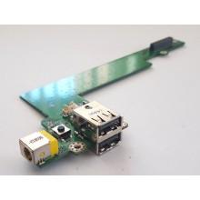 USB board + Napájení + Zapínání DA0ZR1PB6D1 z Acer TravelMate 2482WXMi