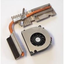 Chlazení 6043B0044101 + ventilátor UDQFRPH53C1N z HP Compaq 6735s